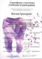 Корнева Л.А., Кялов Г.Г., Дыбов А.М. получили сертификаты